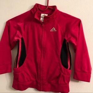 Adidas dark pink girls sport jacket size 4